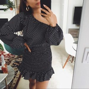🖤 pretty Tularosa polka-dot mini dress 🖤
